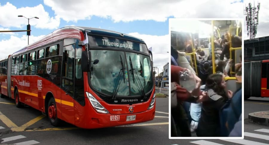 Transmilenio y pasajeros afectados