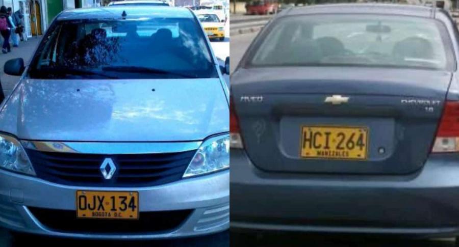 Carros particulares que retuvieron manifestantes