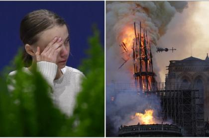 Greta Thunberg y Notre Dame
