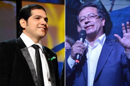 Peter Majarres, cantante, y Gustavo Petro, senador..jpg
