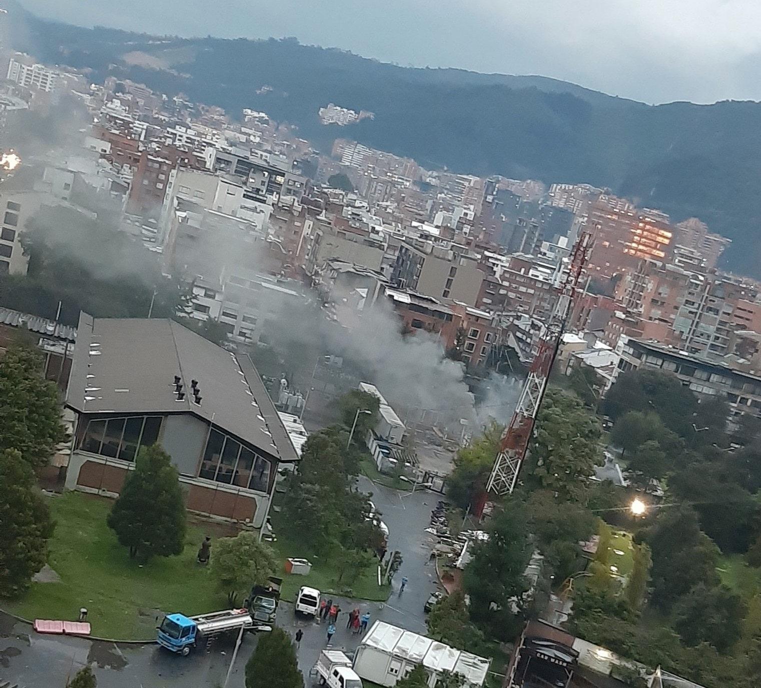 Incendio subestación de energía Usaquén