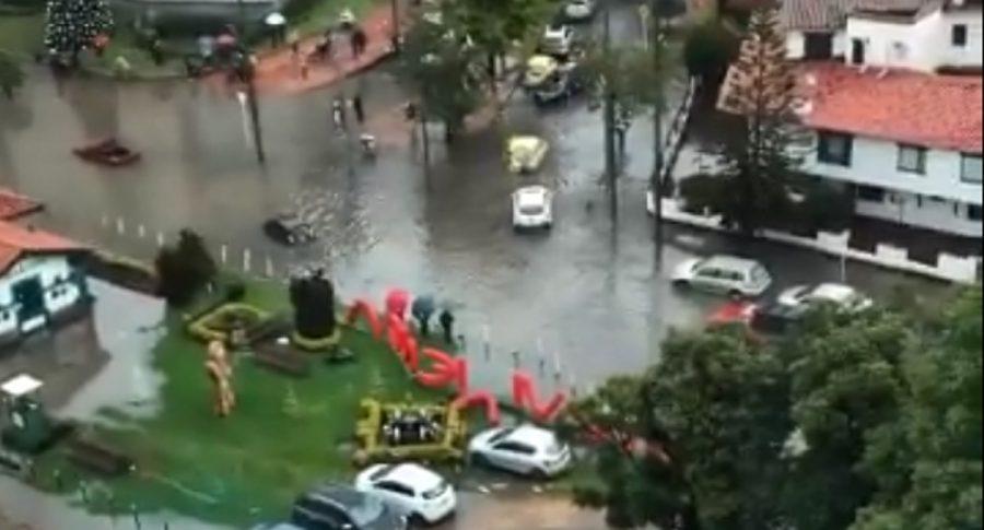 Carros inundados