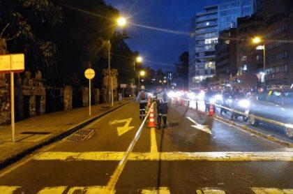 Ciclovía nocturna en Bogotá