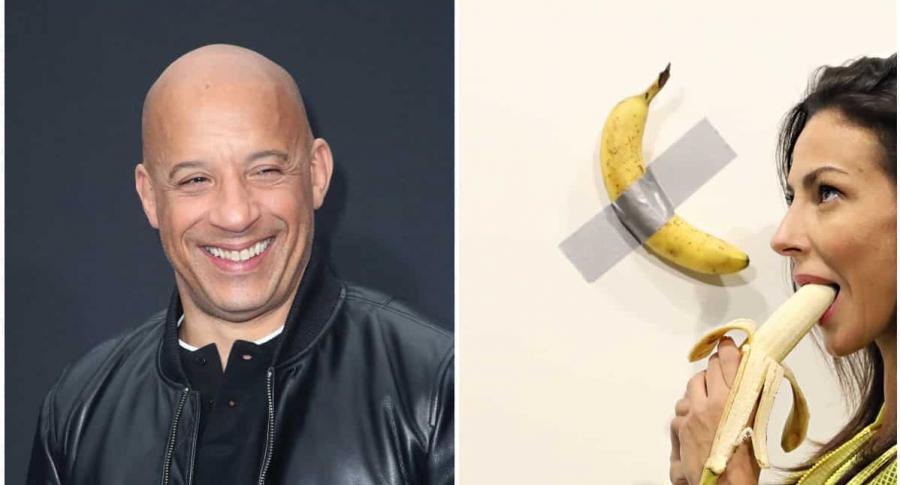 Vin Diesel / Obra 'Comedian' del artista italiano Maurizio Cattelan
