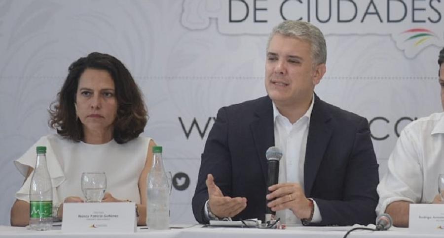 Nancy Patricia Gutiérrez e Iván Duque