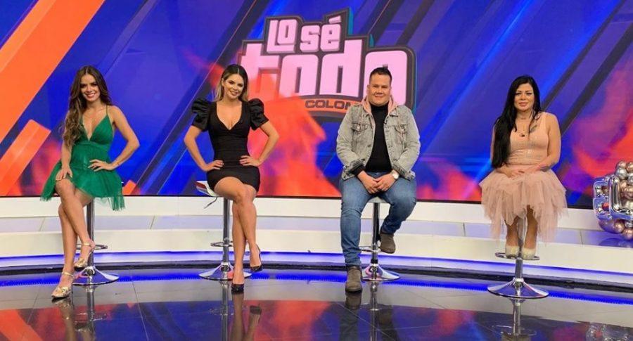 Elianis Garrido, Alejandra Serje, Ariel Osorio y Marbelle, presentadores.