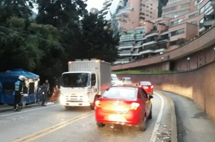 Accidente en vía a La Calera