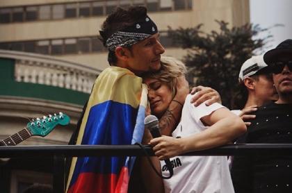 Mario Muñoz y Adriana Lucía