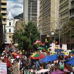 Marchas del paro nacional en Bogotá