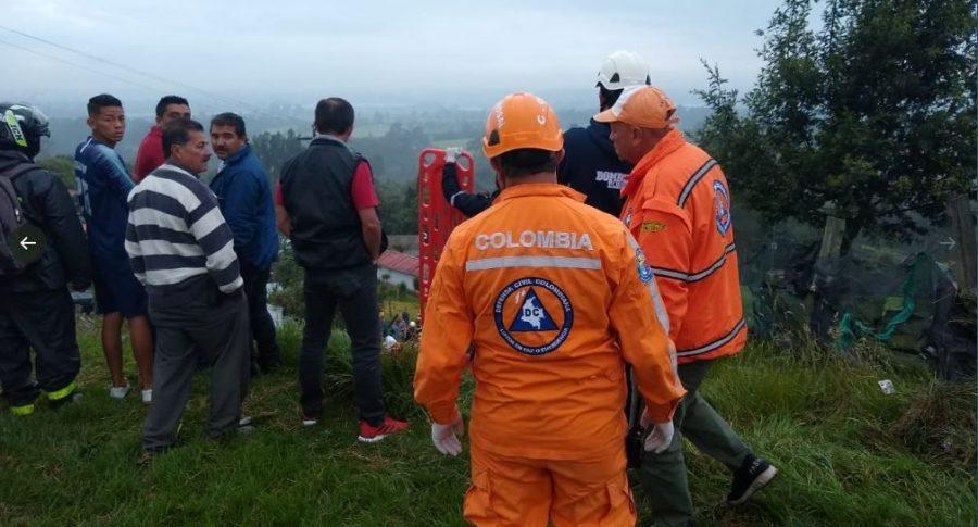Cuerpos de emergencias atienden Accidente Bogotá-La Vega
