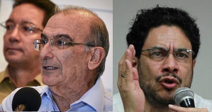 Humberto de la Calle e Iván Cepeda.