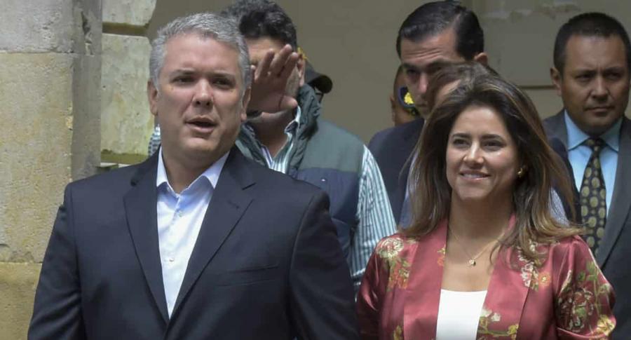 Iván Duque y su esposa María Juliana Ruiz