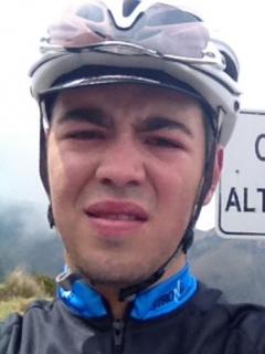Ciclista colombiano envió foto suya a su padre y minutos después murió