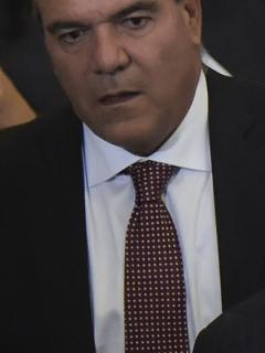Carlos Felipe Mejía y Álvaro Uribe, senadores.
