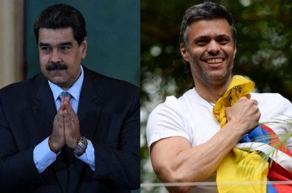 Nicolás Maduro y Leopoldo López