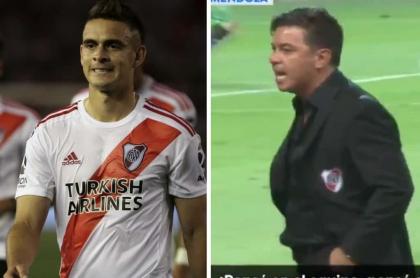 Rafael Santos Borré y Marcelo Gallardo