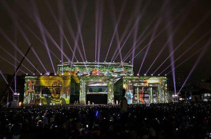 Show de luces en Plaza de Bolívar