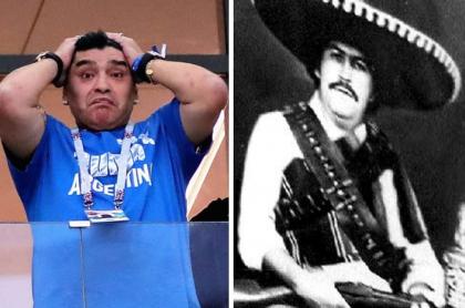 Diego Maradona y Pablo Escobar