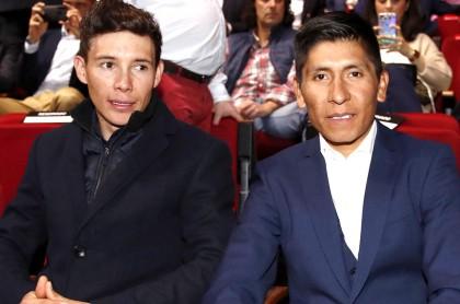Miguel Ángel 'Supermán' López y Nairo Quintana