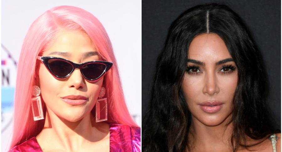 Farina y Kim Kardashian