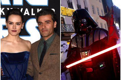 Daisy Ridley (Rey) y Oscar Isaac (Poe Dameron), de 'Star Wars: El ascenso de Skywalker'.