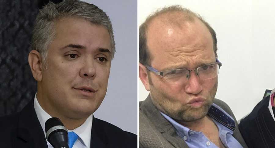 Iván Duque, presidente de Colombia, y Daniel Samper, periodista.