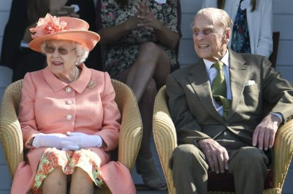 Reina Isabel II y su esposo, el príncipe Felipe