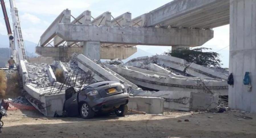 Puente colapsa en Ciénaga