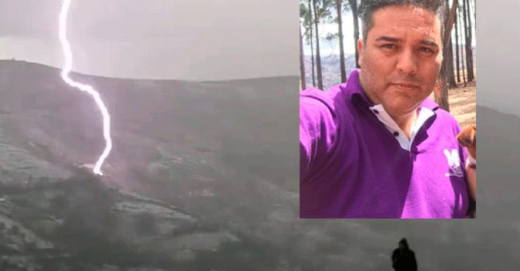 Rayo cae cerca de político peruano
