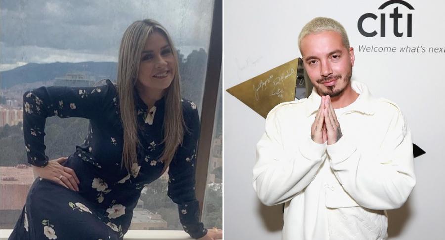 Vicky Dávila, periodista, y J Balvin, cantante.