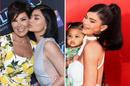 Kris Jenner, su hija Kylie y su nieta Stormi.