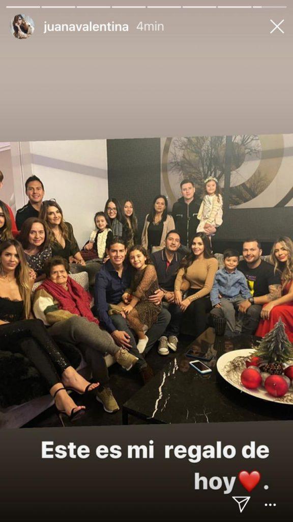 Familia de James Rodríguez en Navidad
