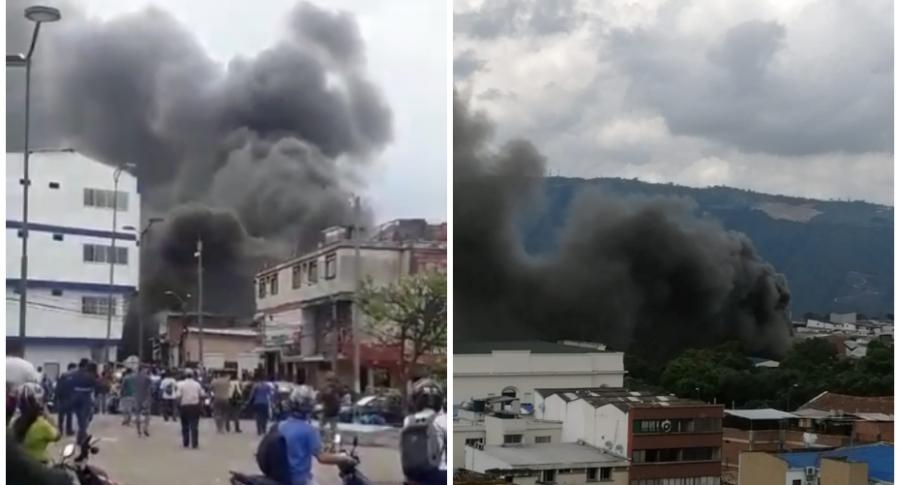 Incendio en Bucaramanga.