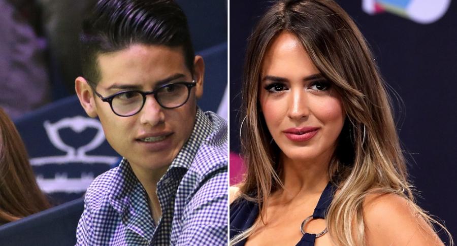 James Rodríguez, futbolista, y Shannon de Lima, modelo.