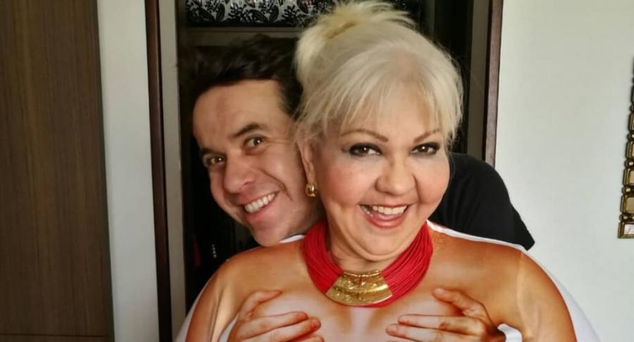'Polilla' y su esposa, 'la Gorda' Fabiola, humoristas.