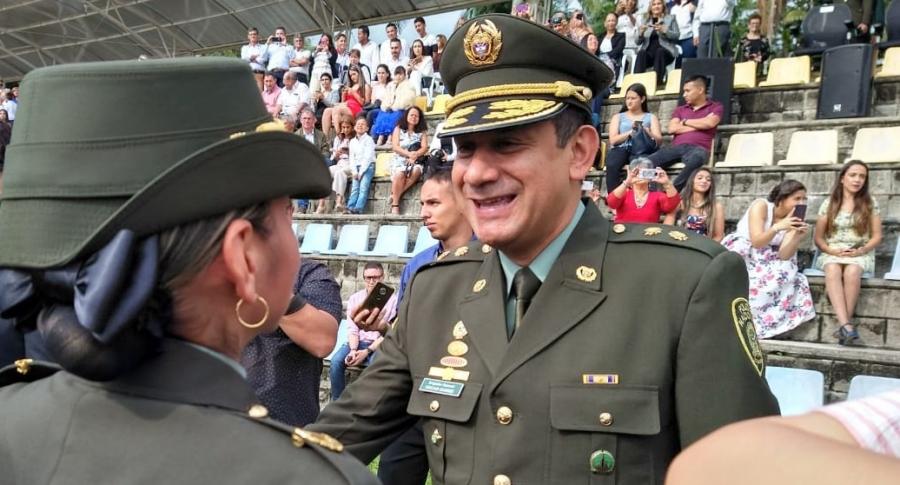 General Óscar Gómez Heredia comandante de la Policía Metropolitana de Bogotá