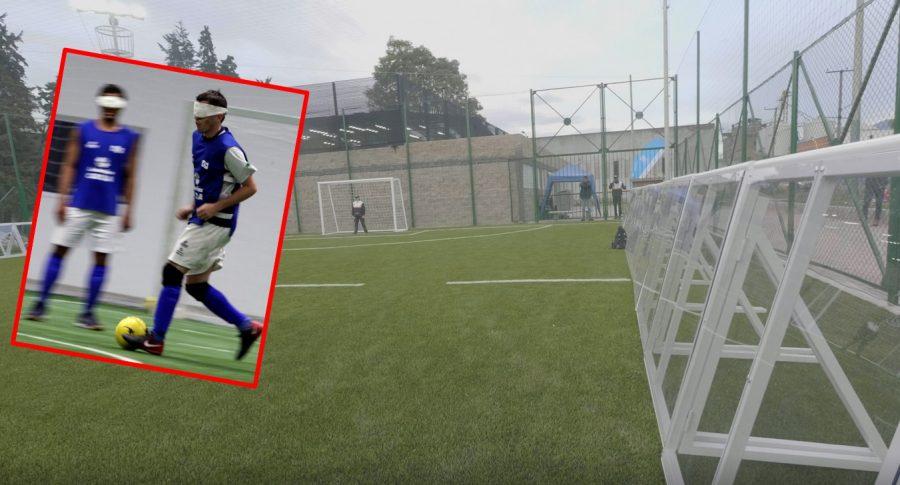 Cancha de fútbol para ciegos
