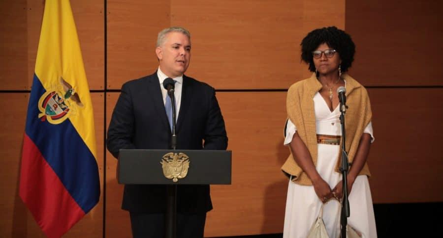 Presidente Duque y ministra de Ciencia y Tecnología