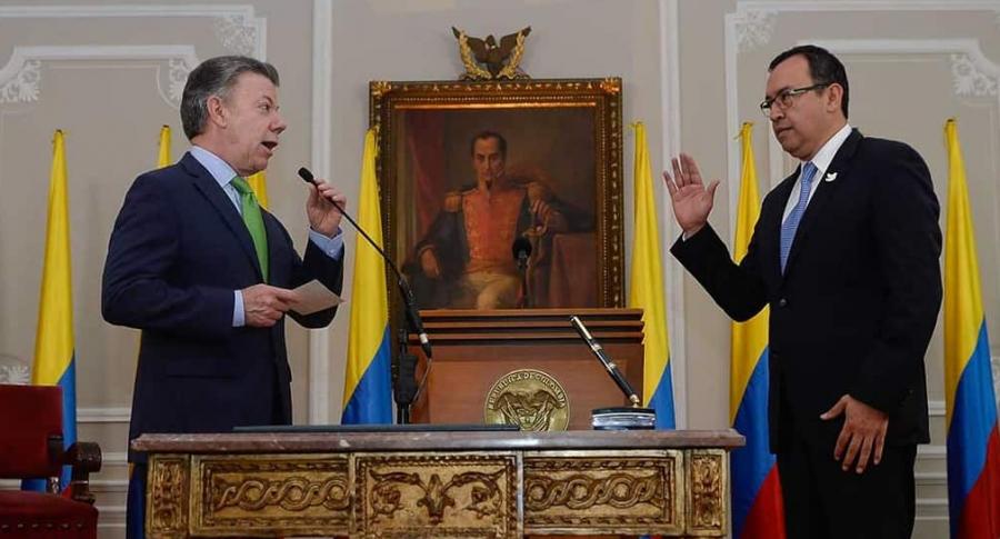 Juan Manuel Santos y Alfonso Prada
