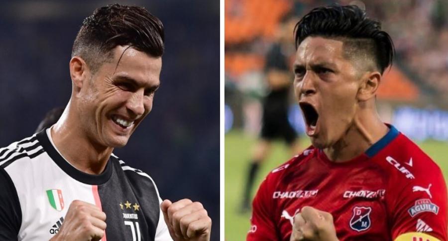 Cristiano Ronaldo y Germán Cano
