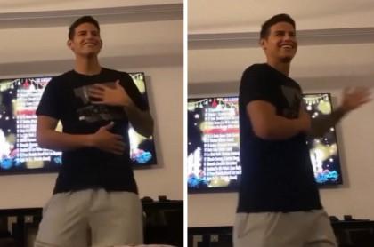 James Rodríguez bailando
