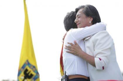 Claudia López y su madre