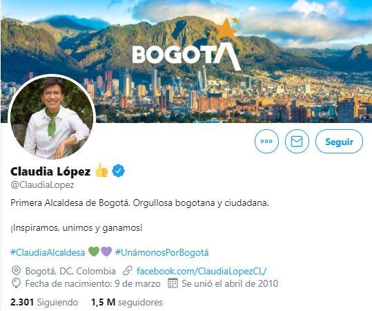 Twitter @ClaudiaLopez