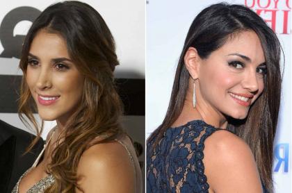 Daniela Ospina, modelo, y Valerie Domínguez, exreina y presentadora.