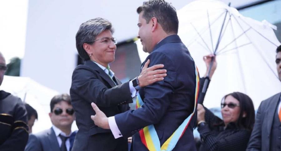 Claudia López y Nicolás García
