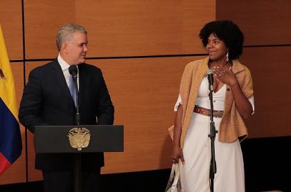 Presidente Iván Duque y MinCiencia Mabel Torres