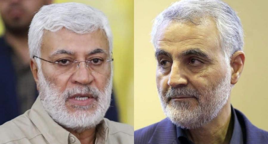 Abu Mahdi al-Mohandis y Qasem Soleimani, muertos en bombardeo estadounidense en Irak
