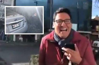 Reportero narró cuando un árbol cayó sobre su carro