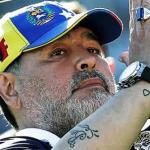 Diego Maradona, Hárrinson Mancilla y Jonathan Agudelo