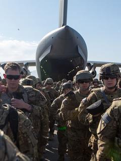 Desembarco de tropas estadounidenses en Oriente Medio